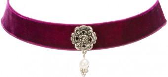 Trachten Kropfband mit Ornament lila