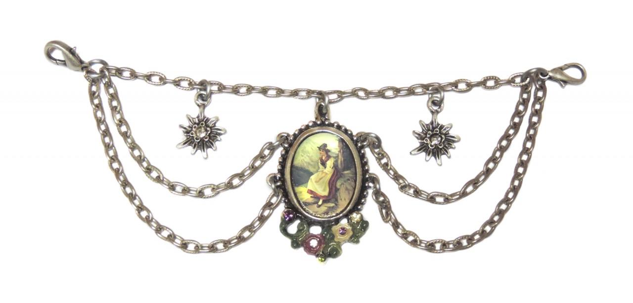 Charivari mit Edelweiss Anhänger und Amulett