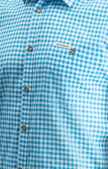 Traditional shirt Campos in turquoise