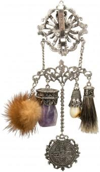 Dirndl Apron-Brooch Sofia, Antique Silver