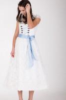 Hochzeitsdirndl lang Ferrara blau