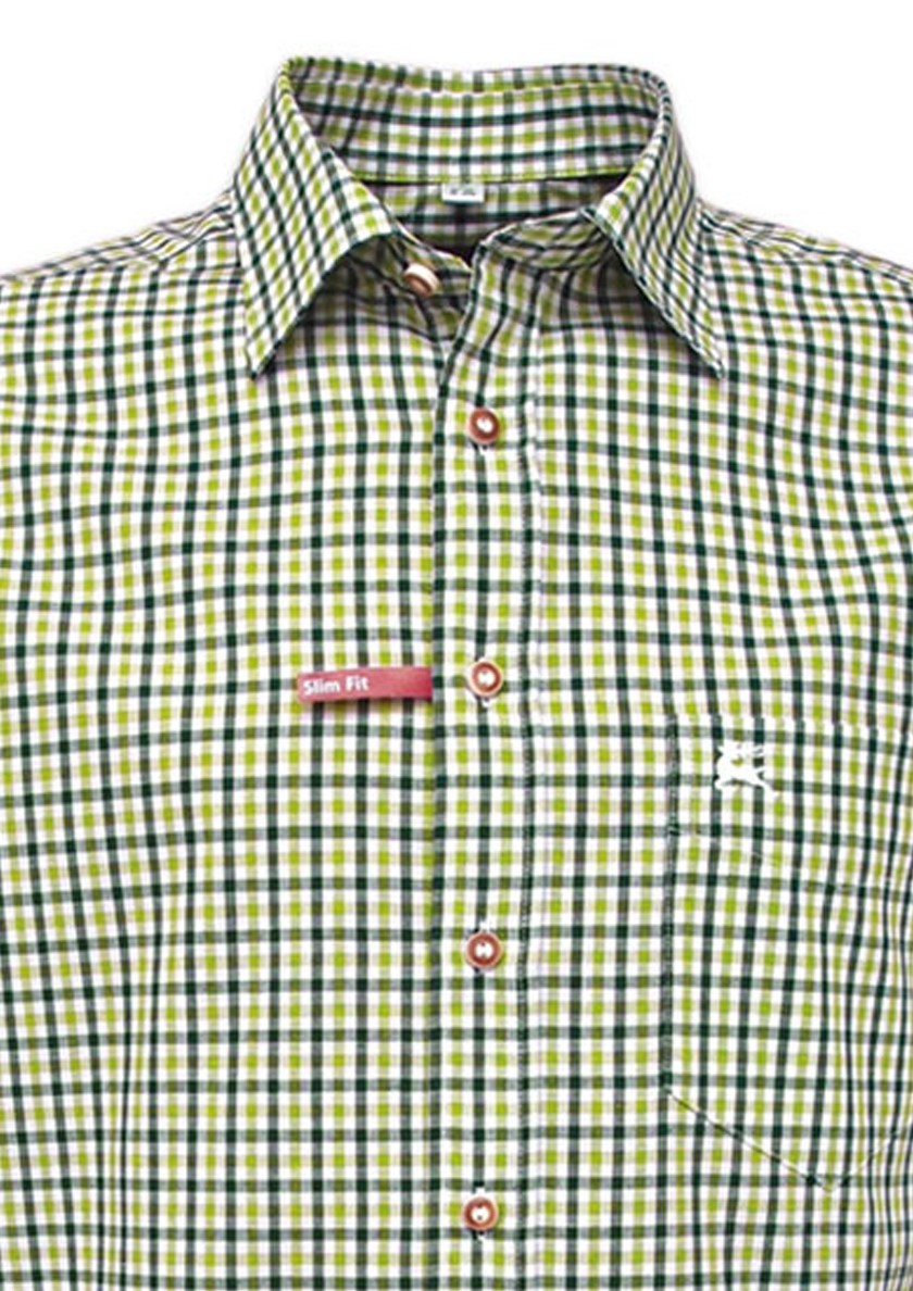 Trachtenhemd Klaas grün