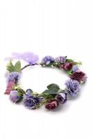 Vorschau: Haarkranz mit lila Blüten