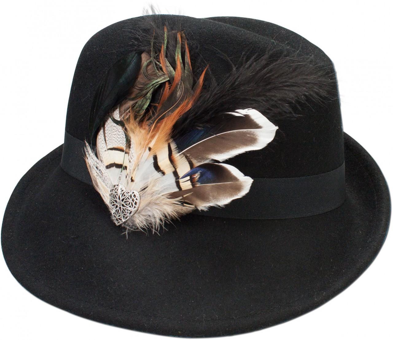 Filz-Trachtenhut Otilia schwarz
