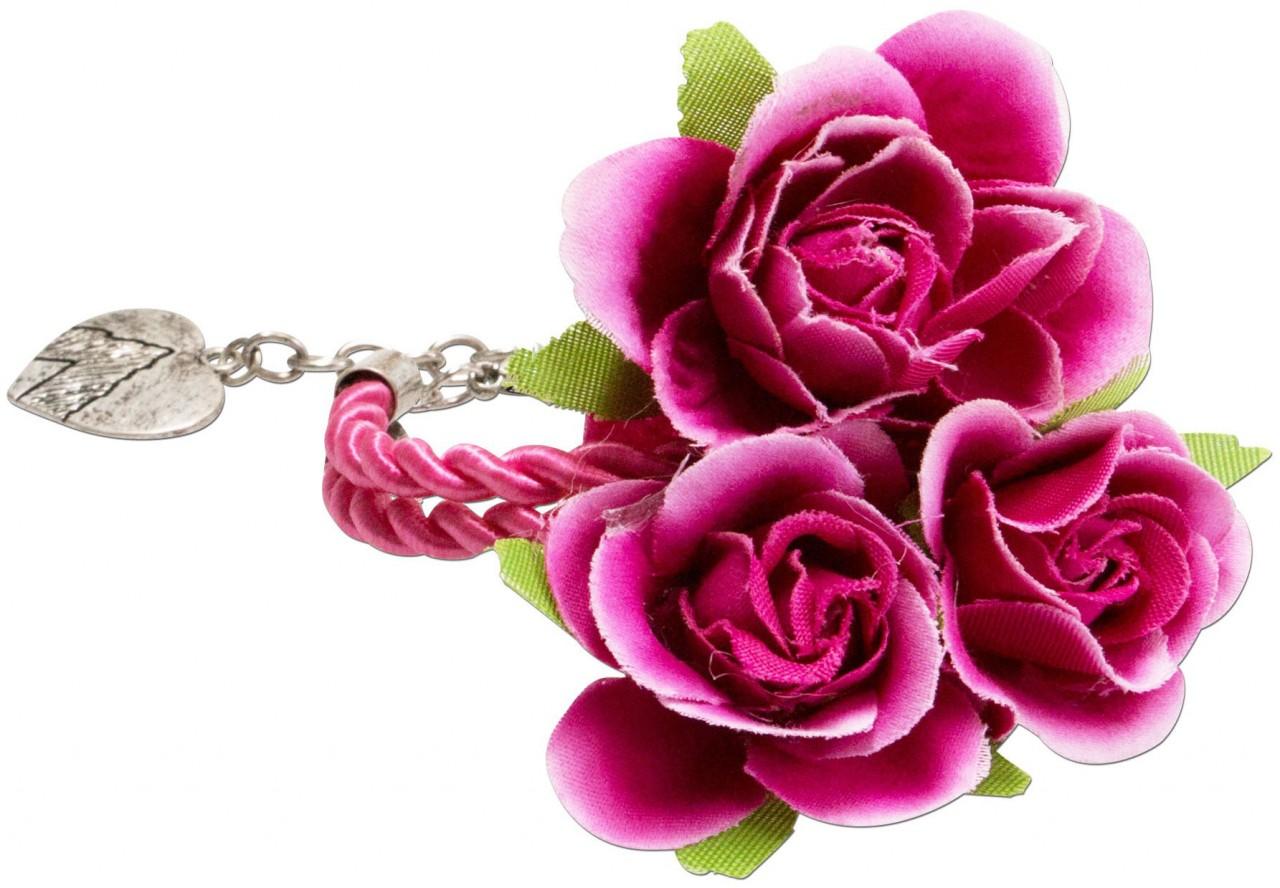 Blüten-Armband Celina pink