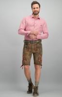 Vorschau: Lederhose Aron hanf gespeckt-rot