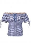Preview: Trachten blouse Clio in blauw