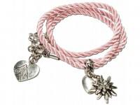 Wickelarmband Edelweiß rosé