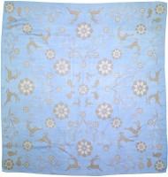 Vorschau: Trachtentuch Häschen und Hirsch hellblau