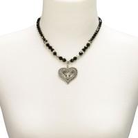 Vorschau: Strassherz Perlenhalskette schwarz