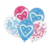 Preview: 5 latexballonnen volksfeest 30cm