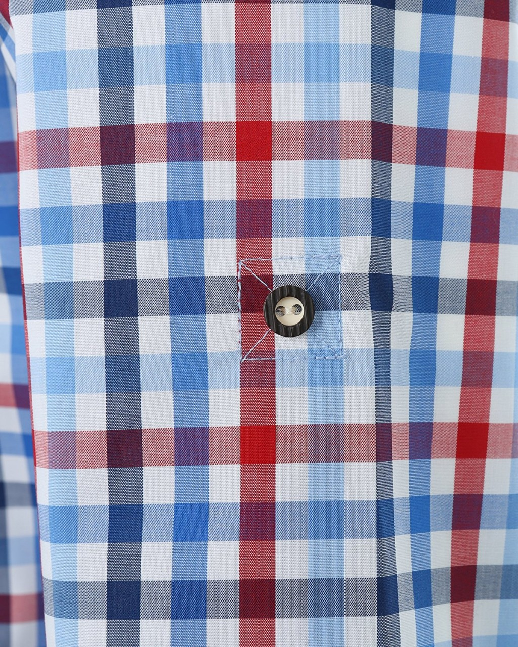 Olymp Hemd Trachtenhemd Modern Fit blau/rot