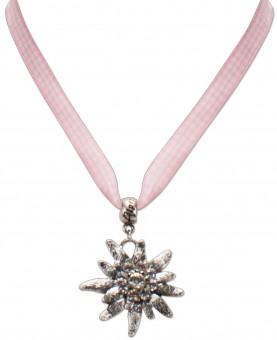Satin-Trachtenkette Marlene rosa