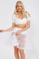 Preview: Petticoat in witte 50cm