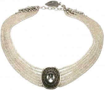 Perlenkropfkette Alice natur