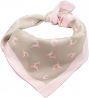 Trachten Tuch Hirschfestl rosa- beige