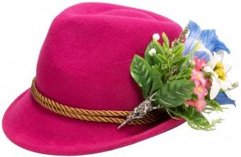 Filzhut Alpenblümchen pink