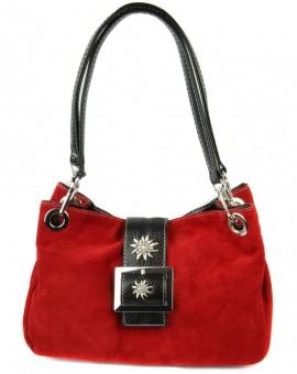 Handtasche Nora Wildleder rot