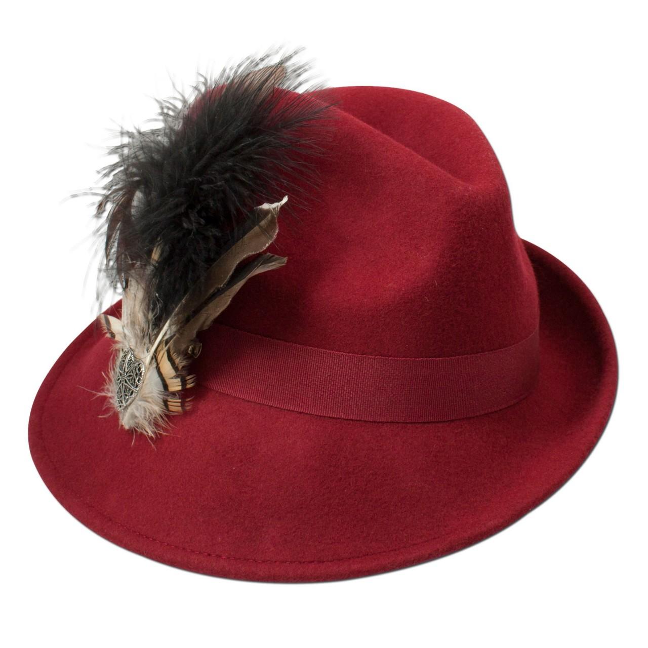 Filz-Trachtenhut Otilia rot