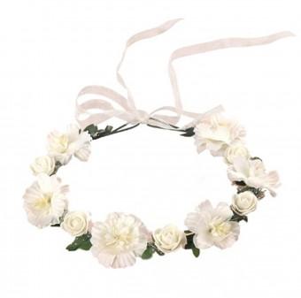 Haarkranz Rosenfein Weiß