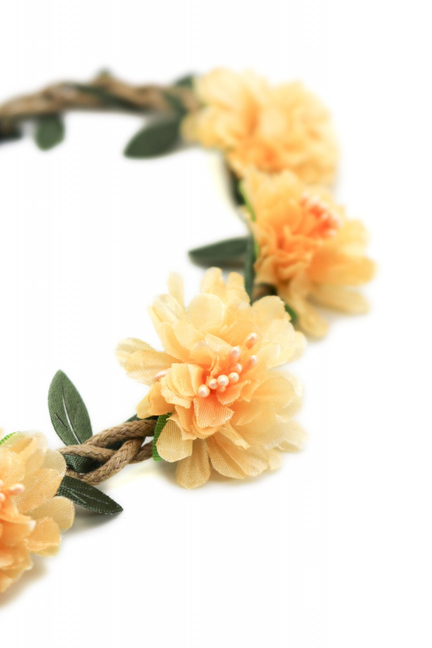 Haarband mit orangen Sommerblüten