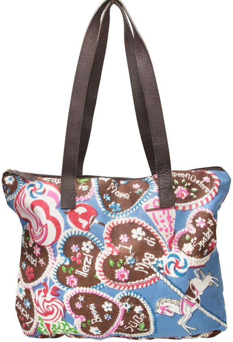 Trachten-Shopper Trachtentasche Sweet Temptation blau