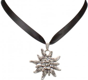 Satin Necklace Marlene, Black