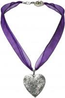 Vorschau: Organzakette Herzamulett lila