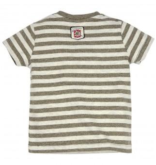T-Shirt gestreift 'Wanderstiefel'