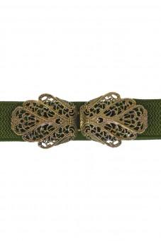 Trachtengürtel Malin grün gold
