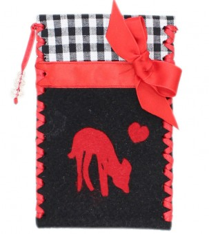 Mobile Phone Case, Fawn, black-red