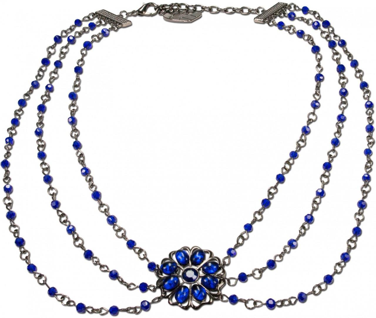 Trachtenkette Tamina blau