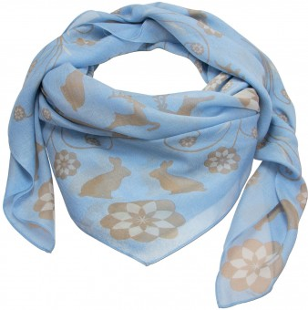Trachten Neckerchief, Animal Print, Light Blue