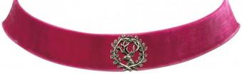 Trachten Kropfband mit Hirsch pink
