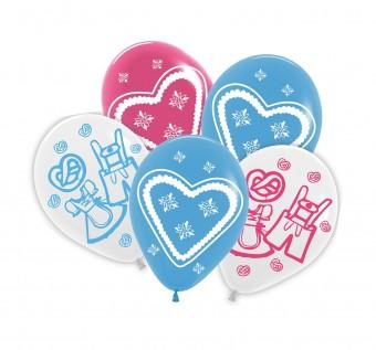 5 Latex Balloons Volksfest 30cm