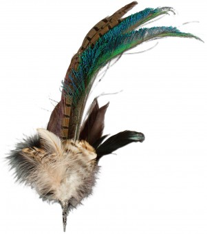 Hat Feather, Brown-Green