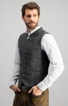 Trachten vest Enzo in gray