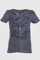 Kinder T-Shirt Platzhirsch dunkelgrau