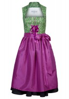 Lara dirndl, pink Elegant midi dirndl in green and pink