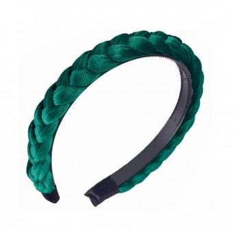 Samt-Haarreif Smaragdgrün