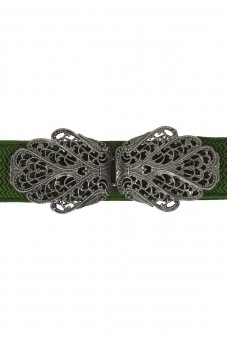 Trachtengürtel Malin grün silber