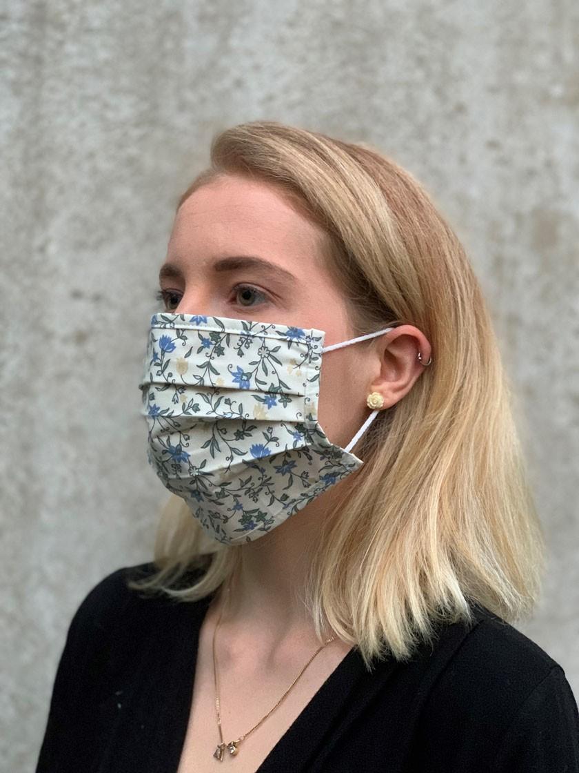 Mund-Nasen-Maske Blumenranke