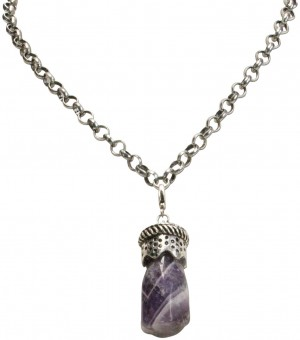 Trachten Purple Amethyst Pendant, Antique Silver