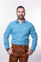 Trachtenhemd Türkis