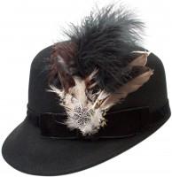 Vorschau: Trachtenhut Kappe Louisa schwarz