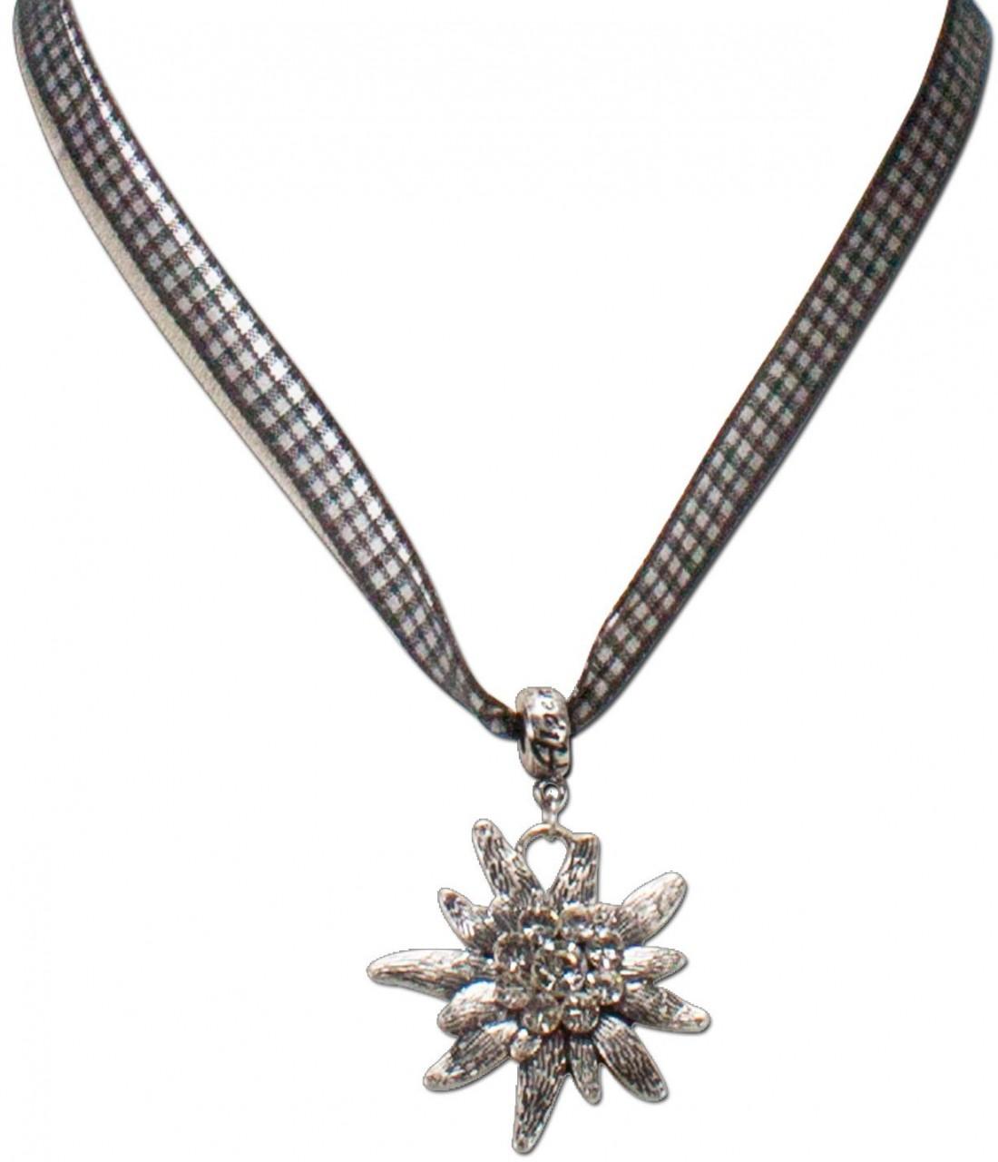 Karoband-Trachtenkette Edelweiß schwarz
