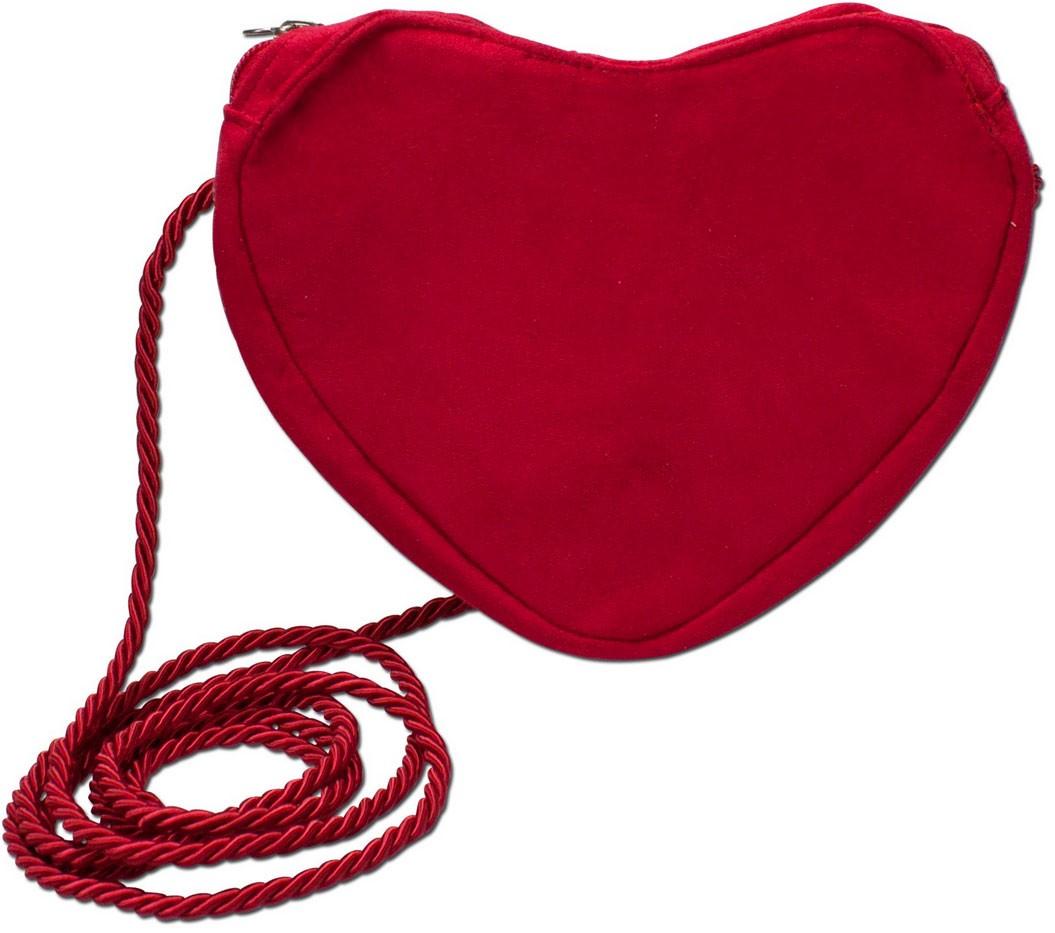 Herz Trachtentasche rot