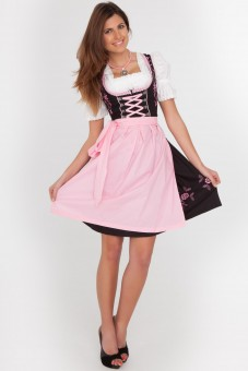 3-piece black feminine dirndl with balconette neckline