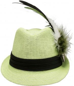 Trachten-Strohhut hellgrün