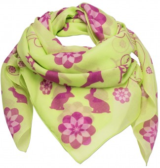 Trachten Neckerchief, Animal Print, Light Green